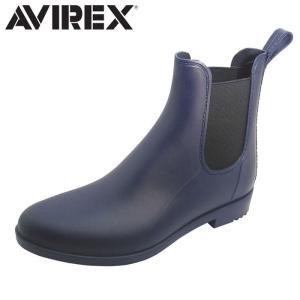 アヴィレックス AVIREX サイドゴアレインブーツ レインシューズ 長靴 レディース NAVY EMMA|shop-kandj