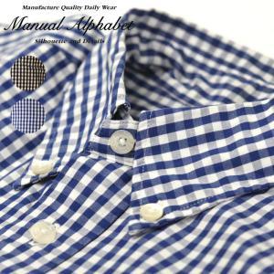 マニュアルアルファベット ギンガムチェック チェックシャツ ボタンダウンシャツ メンズ シャツ 長袖 定番 MANUAL ALPHABET GINGHAM BD SHIRTS BASIC|shop-kandj