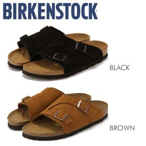ビルケンシュトック Birkenstock チューリッヒ スエード サンダル レディース メンズ コンフォート ブラック ブラウン 本革 幅狭 ZURICH|shop-kandj