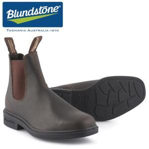 ブランドストーン サイドゴア ブーツ BS062 スクエア レザー 天然皮革 ワーク アウトドア スタウトブラウン 茶 メンズ レディース|shop-kandj