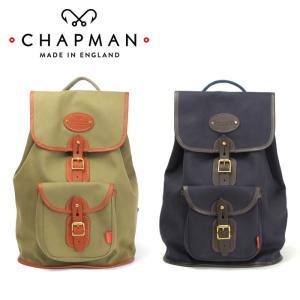 チャップマン ボーダー リュックサック メンズ レディース バッグ 紺 ネイビー オリーブ カーキ リュック バックパック 英国製 キャンバス 本革 chapman|shop-kandj
