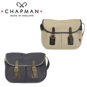 チャップマン メイフライ サッチェル メンズ レディース バッグ 紺 ネイビー ベージュ ショルダーバッグ イギリス製 キャンバス 本革 CHAPMAN MAYFLY|shop-kandj