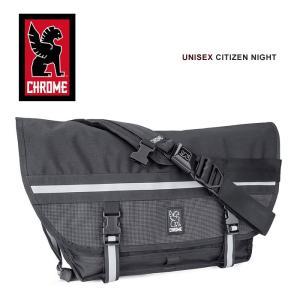 クローム シチズン メッセンジャーバッグ リフレクターパネル ピストバイク 自転車 ショルダーバッグ 反射 夜間 黒 ブラック CHROME CITIZEN|shop-kandj