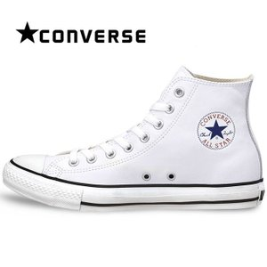 コンバース レザー オールスター ハイ スニーカー CONVERSE メンズ レディース シューズ ハイカット 定番 靴 白 ホワイト LEATHER ALL STAR HI|shop-kandj