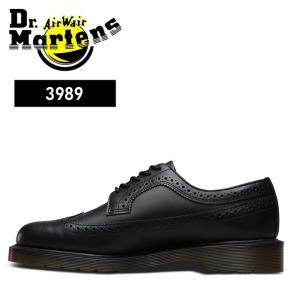 ドクターマーチン Dr.Martens 3989 ウィングチップシューズ レースアップ シューズメンズ レディース ブラック BLACK CORE 3989 WING TIP|shop-kandj