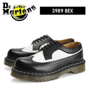 ドクターマーチン Dr.Martens 5アイ ウィングチップ ブーツ ベックスソール ブラック/ホワイト バイカラー メンズ レディース サイズ レザー 厚底|shop-kandj