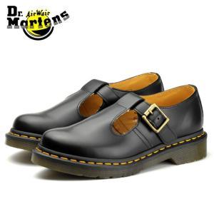ドクターマーチン Dr.Martens ポリー ブラック Tストラップ ブーツ ローカット 靴 レディース CORE POLLEY BLACK 14852001|shop-kandj