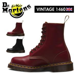 ドクターマーチン Dr.Martens VINTAGE 1460 8ホール レザーブーツ メンズ レディース レースアップ オックスブラッド チェリーレッド ブラック 8EYE|shop-kandj