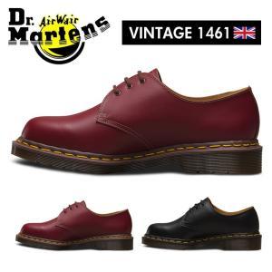 ドクターマーチン Dr.Martens VINTAGE 1461 3ホール レザーシューズ メンズ レディース レースアップ オックスブラッド チェリーレッド ブラック 3EYE|shop-kandj