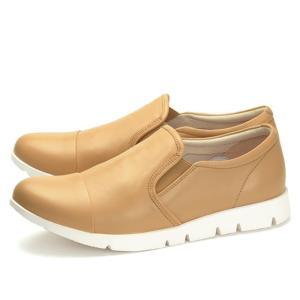 フィットジョイ FITJOY FJ-023 ベージュ スニーカー レディース ウォーキングシューズ 軽量 レザーシューズ シープスキン 旅行用 靴 おしゃれ|shop-kandj