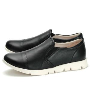 フィットジョイ FITJOY FJ-023 ブラック 黒 スニーカー レディース ウォーキングシューズ 軽量 レザーシューズ シープスキン 旅行用 靴 おしゃれ|shop-kandj