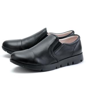 フィットジョイ FITJOY FJ-023 オールブラック 黒 スニーカー レディース ウォーキングシューズ 軽量 レザーシューズ シープスキン 旅行用 靴 おしゃれ|shop-kandj