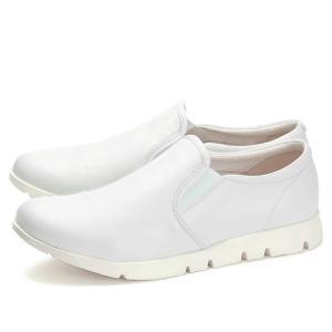 フィットジョイ FITJOY FJ-023 ホワイト 白 スニーカー レディース ウォーキングシューズ 軽量 レザーシューズ シープスキン 旅行用 靴 おしゃれ|shop-kandj