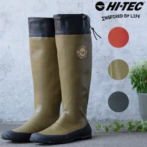 ハイテック レディース メンズ レインブーツ 長靴 ロング丈 パッカブル 持ち運び 折りたたみ 雨 キャンプ フェス 釣り ラバーブーツ HI-TEC BTU08|shop-kandj