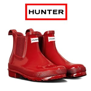 ハンター オリジナル グロス チェルシーブーツ レディース レインブーツ 防水 撥水 レッド HUNTER Original Gloss Chelsea Boots WFS1043RGL-MLR|shop-kandj