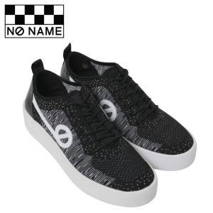 ノーネーム スニーカー ジャバ NO NAME JAVA-71518 レディース 黒 ブラック ニットスニーカー レザー フラットスニーカー シューズ 靴|shop-kandj