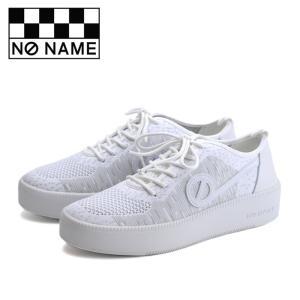 ノーネーム スニーカー ジャバ NO NAME JAVA-71518 レディース 白 ホワイト ニットスニーカー レザー フラットスニーカー シューズ 靴|shop-kandj