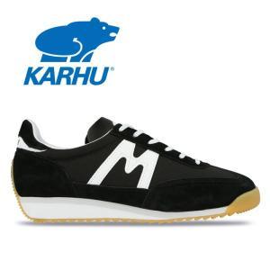 カルフ KARHU チャンピオンエア CHAMPIONAIR KH805003 ブラック ホワイト 黒 白 スニーカー ランニングシューズ レディース メンズ 靴 レトロラン|shop-kandj