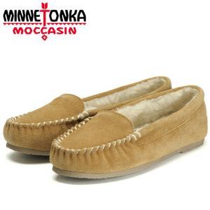 ミネトンカ ケイ ベネチアン スリッパー モカシン ムートン ボア ローファー シナモン レディース 靴 MINNETONKA KAY VENETIAN CINNAMON 40773|shop-kandj