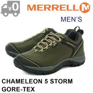 SALE メレル カメレオン5 ストーム ゴアテックス スニーカー メンズ アウトドア トレッキング 防水 オリーブ MERRELL CHAMELEON 5 STORM GORE TEX