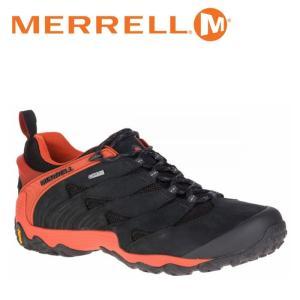 メレル MERRELL カメレオン 7 ゴアテックス CHAMELEON 7 GORE-TEX メンズ トレッキングシューズ ローカット 黒 赤 ブラック レッド ファイヤー FIRE|shop-kandj