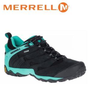 メレル MERRELL カメレオン 7 ゴアテックス CHAMELEON 7 GORE-TEX レディース ウィメンズ トレッキングシューズ ローカット 黒 ブルー アイス ICE W39884|shop-kandj
