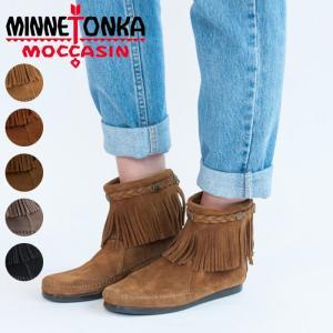 ミネトンカ ハイトップ バックジップブーツ MINNETONKA Hi Top BackZip Boot モカシン ショートブーツ スウェード レディース靴 フリンジ|shop-kandj