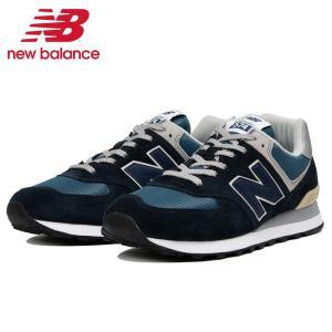 ニューバランス ML574 ESS メンズ レディース ウィメンズ スニーカー ウォーキングシューズ ランニングシューズ ネイビー 紺 トレーニング ジム アスレジャー 靴|shop-kandj