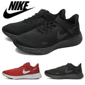 ナイキ nike メンズ スニーカー ランニング 黒 ブラック 赤 レッド 靴 スポーツ レボリューション フライイース 5 4E 幅広 REVOLUTION FLYEASE 5 4E CJ9885 001|shop-kandj