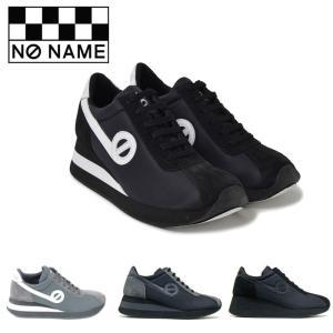 ノーネーム NO NAME スピード 定番 厚底 スニーカー レディース ナイロン BLACK GREY ブラック グレー SPEED JOG NYLON SPEED-00101|shop-kandj