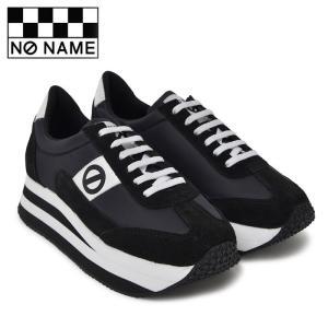 ノーネーム プラト ジョグ ナイロン 定番 厚底 スニーカー レディース ナイロン 黒 ブラック BLACK 婦人靴 NO NAME PLATO JOG NYLON P.JOG-00109|shop-kandj