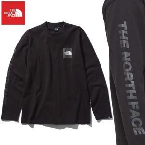 ノースフェイス Tシャツ 長袖 ロンT メンズ スクエア ロゴ ティーシャツ カットソー トップス ロング ロンティー ブラック NT81931 THE NORTH FACE Square Logo|shop-kandj