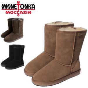 送料無料 ミネトンカ ブーツ レディース オリンピア ムートンブーツ スウェード 黒 ブラック 茶 ブラウン ブーツ 靴 防寒 MINNETONKA OLYMPIA BOOT|shop-kandj