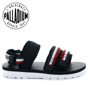 パラディウム サンダル スポーツサンダル スポサン メンズ レディース ブラック ホワイト トリコロール PALLADIUM OUTDOORSY BLACK WHITE 75652-307|shop-kandj