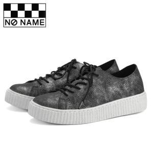 ノーネーム ピカデリー スニーカー レディース 黒 ブラック 厚底 靴 フラットシューズ NO NAME PICADILLY BLACK 81520|shop-kandj