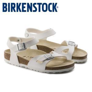 ビルケンシュトック Birkenstock リオ レディース サンダル 白 ホワイト ベルト コンフォートサンダル かかとストラップ RIO 031733 shop-kandj