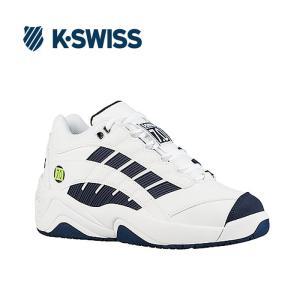 Kスイス ケースイス メンズ スニーカー ホワイト ネイビー ダッドスニーカー SI-Defier7.0 White/Navy/Lime 36061400|shop-kandj