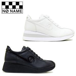 ノーネーム スピード 定番 厚底 スニーカー レディース レザー 黒 ブラック 白 ホワイト BLACK WHITE 婦人靴 NO NAME SPEED JOG NAPPA SPEED-00150|shop-kandj