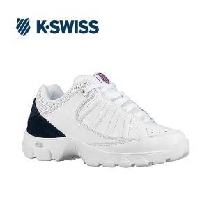 Kスイス ケースイス ヘリテージ レディース ホワイト ネイビー スニーカー ダッドスニーカー ダッドシューズ K-SWISS ST529 Heritage WHITE NAVY|shop-kandj