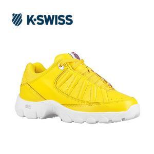 Kスイス ケースイス ヘリテージ レディース ホワイト イエロー スニーカー K-SWISS ST529 Heritage Yellow/White|shop-kandj