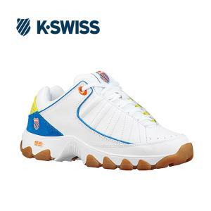 Kスイス ケースイス ヘリテージ レディース ホワイト イエロー スニーカー K-SWISS ST529 LE White Blue|shop-kandj
