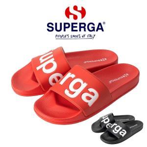スペルガ メンズ レディース サンダル シャワーサンダル シャワサン スポサン ブラック レッド BLACK RED SUPERGA 1908-PUU S00DUL0|shop-kandj