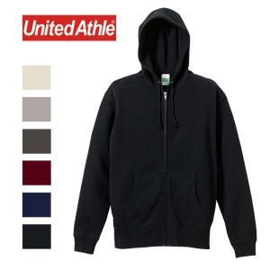 ユナイテッドアスレ United Athle 5213 ジップ パーカー スウェット メンズ レディース フルジップ 裏毛 10oz ブラック ネイビー グレー shop-kandj