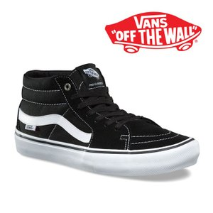 バンズ スケートミッド プロ ブラック/ホワイト メンズ レディース ミドルカット スニーカー スケート スウェード VANS SK8 MID PRO VN0A347UY28|shop-kandj