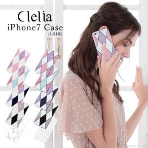 iPhone7ケース レディース 日本製 Clelia ダイヤ柄 花柄 スマホケース CL-5102 mlb|shop-kazzu