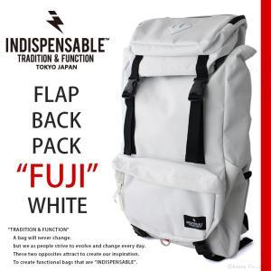 リュック レディース 大容量 アウトドア INDISPENSABLE ホワイト バックパック No.17724000|shop-kazzu