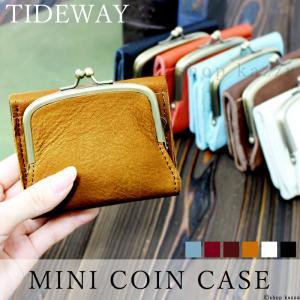 折り財布 財布 レディース 本革 小さい財布 コンパクト がま口財布 TIDEWAY T2033|shop-kazzu