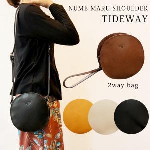 ショルダーバッグ レディース 本革 バッグ ヌメ革 2way 丸い ショルダー TIDEWAY T2046|shop-kazzu