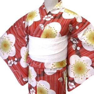 着物美人 送料無料 浴衣 ゆかた 女性用 綿紅梅 変り織り ...