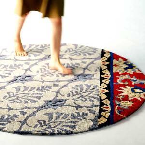 円形フックラグ 「NEXT-ANNA」 約150x150cm 円形「ホットカーペット対応 滑り止め」 shop-kyoto